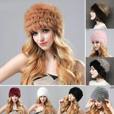 New Fashion Women Winter Warm Nature Fur Headgear Cap Real Rabbit Fur Hat Bonnet