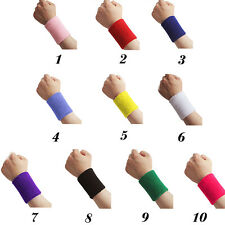 Soft Basketball Gym Sports Cotton Sweat Band Sweatband Wristband Wrist Band New
