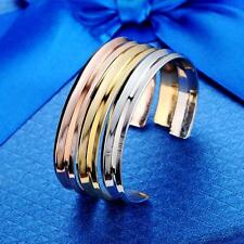 1x Luxury Stainless alloy Cuff Opening Bracelet Bangle For Women Jewelry SS7