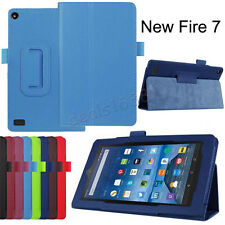 "Slim Leather Foldable Case Stand Cover For Amazon Kindle Fire HD 7"" 2015 Tablet"