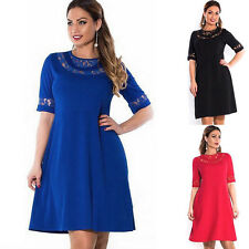 Women Summer Lace Dress Long Evening Cocktail Ball Gown Party Formal Plus Size