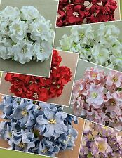 Mulberry Paper Flowers 5 x 35mm GARDENIAS Cardmaking, Weddings, Crafts