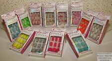 Kit 24 Fake Nails ready to install French Manicure Sticker Glitter or Flashy