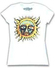 Sublime Full Color Sun Girls Juniors White T Shirt New Official 40oz to Freedom