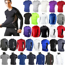 Men Compression Baselayer Body Armour Thermal Fitness T-Shirt Tight Gym Gear Top