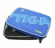 HOT STIGA Table Tennis Racket Cover Double Layer Bat Paddle Carry Bag Blue Black