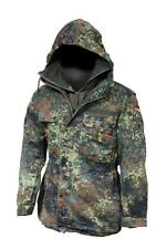 German Army Flecktarn Camo Parka & Liner ( Choice of Size ) Military Surplus