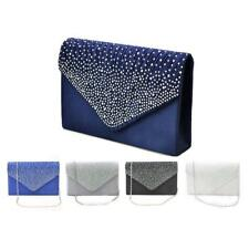 Womens Fashion Satin Clutches Evening Party Bags Chain Shoulder Purse Handbags