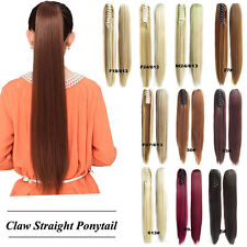16 color 21.6'' Long Big blonde Straight Claw Clip Hair Ponytail Hair Extension