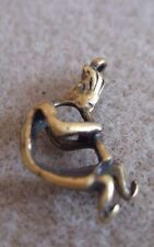 Full Body Kokopelli Charm-set of 2- antiqued gold tone