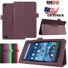 "PU Leather Foldable Folio Case Stand Cover For Amazon Kindle Fire HD 7"" 2015 US"