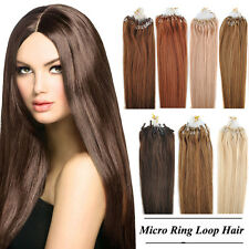 """18~22"""" 50g 100S Micro Ring Loop Tipped Remy Human Hair Extensions For Women"""