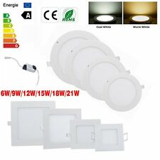 6W 9W 12W 15W 18W 21W Dimmable LED Recessed Ceiling Panel Downlight Cabinet Lamp