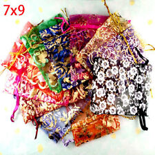 100 Pcs Mixed Storage Wedding Candy Gift Bags Pouches Handwork Festival Organza