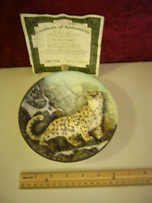 "1st  ISSUE "" THE SNOW LEOPARD "" BRADFORD PLATE # 1418A MINT CONDITION"