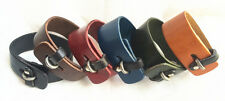 1pcs Genuine Leather Bracelet New Woman Men Leather Cuff Charm Bracelet NK006