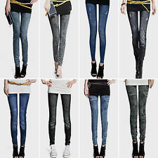 New Womens Denim Jeans Legging Stretch Slim Skinny Jegging Sexy Pants Trousers