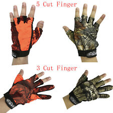 Fishing Hunting Camo Gloves  3 5 Cut Finger Anti-Slip Mitts Fingerless Glove