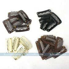 100x Metal U Shape Snap Hair Clips for Hair Extension Weft Clip-on Wig 28/32mm