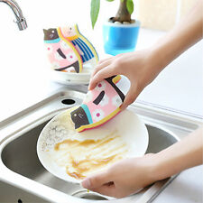 SEA LION SHAPE SPONGE WIPER KITCHEN POT STAINS CLEAN REMOVING TOOL COMELY