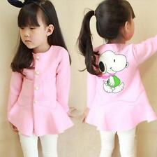 Girls Kids Princess Party Cartoon Jacket Coat Outwear 2-7Y Tops Tutus Clothes
