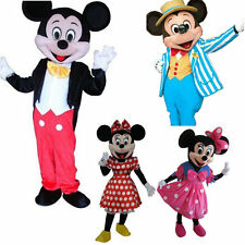 Hot Mickey and Minnie Mouse Adult size Mascot Costume Party Clothing Fancy Dress