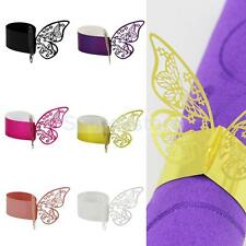 50x Butterfly Paper Wedding Party Napkin Ring Serviette Favour Table Decoration