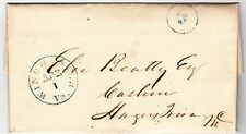 Winchester Virginia Blue 5 Cancel on 1848 Stampless cover