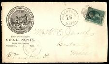 Town Collector Watertown Ma Jul 18 1882 Single Franked Ad Cover To Boston