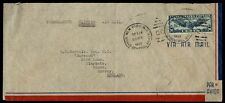 US 1939 30c Winged Globe Clipper Single Franked airmail Cover to England