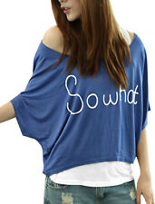 Boat Neck Batwing Sleeve Shirt w White Tunic Tank Top for Lady