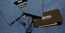 NWT $165 Hugo Boss Regular Fit Geometric Blue Shirt Mens Size M Long Sleeve NEW