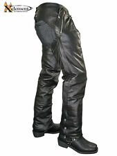 Xelement Men's Cowhide Leather Motorcycle Chaps with Removable Insulating Liner