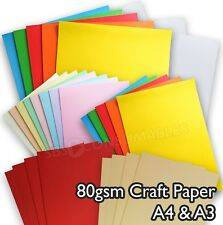 100 Sheets A3 Or A4 80gsm Paper Crafts Printer Paper White Rainbow Pastel Ivory