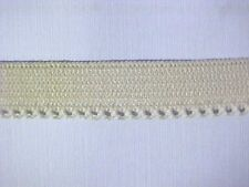 Elastic 1/2 Nude Beige Pastel PINK Dainty Picot Edge 10 yds.  Spools Available