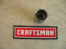 """CRAFTSMAN 3/8"""" Dr Drive SAE in inch SOCKET - 12pt 12 Point pt - pick ANY SIZE"""