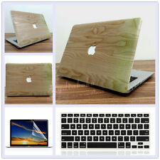 "3in1 Wooden Pattern #4 Matte Hard Case Cover for MacBook 12"" Air Pro 11"" 13"" 15"""