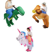 New Inflatable Dinosaur Horse Riding Cowboy Unicorn Fancy Dress Suit