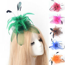 handmade lady wedding handmade feather fascinator headband flower hair accessory