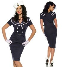 seXy Pin-Up Vintage Dress 1950'S Jahre Party Marine Sailor Rockabilly S-XXXL