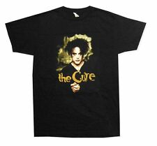 The Cure Raw Edge Patch Robert Smith Image Black T Shirt New Official Band