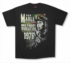 Bob Marley Rastaman Vibration 76 Mens Black T Shirt New Official Reggae Music
