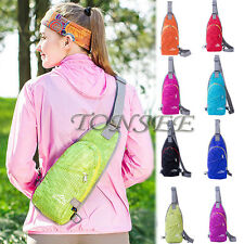 NEW Unisex Nylon Small NEW Chest Bag Outdoor Sports Shoulder Bag Sling Backpack
