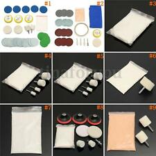 9 Types Glass Scrach Remover Polishing Kits Cerium Oxide Powder + Wheel + Felt