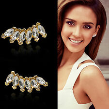 U Fashion Women Lady Girls Elegant Crystal Rhinestone Ear Stud Earrings 1 Pair