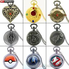 Antique Pocket Watch Gift Quartz Necklace Chain Pendant Luxury Mens Steampunk