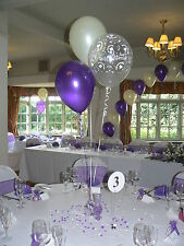 Wedding Balloons - 10 Table Decorations - Hearts Design - Many Colours - DIY Kit