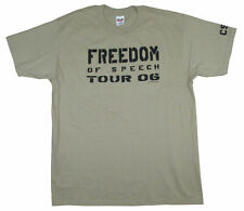Crosby Stills Nash & Young Freedom Of Speech 2006 Tour Olive T Shirt New CSNY