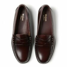 G.H. Bass Mens Shoes BA11010 Weejun Larson Moc Penny Loafer Leather -Burgundy