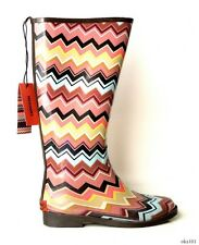 new MISSONI signature ZIG ZAG Chevron Stripes RAIN BOOTS - gorgeous